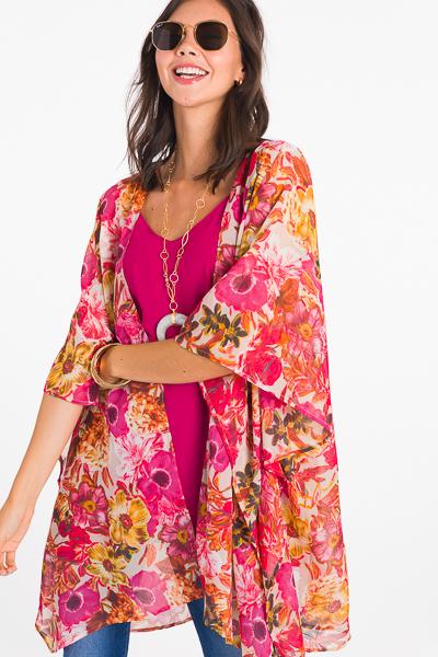 Mulberry Floral Kimono
