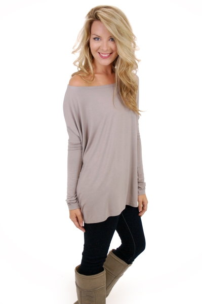 Outside The Box Top, Light Brown