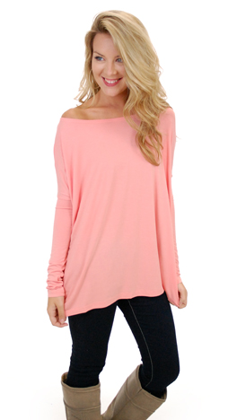Outside The Box Top, Peach