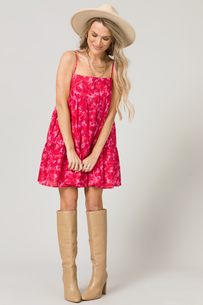 Sweet On Me Dress, Pink/Red