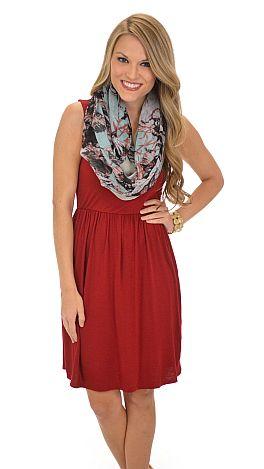 Classic Tank Dress, Crimson