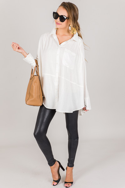 Keema Pocket Shirt, Ivory