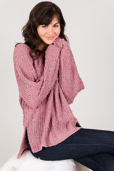 Rachel Sweater, Mauve