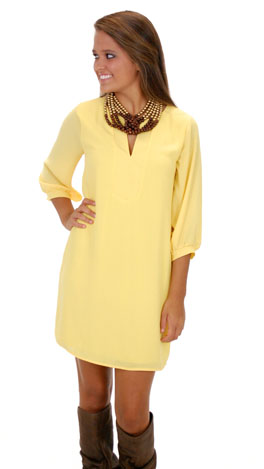 Classic Tunic Dress, Yellow