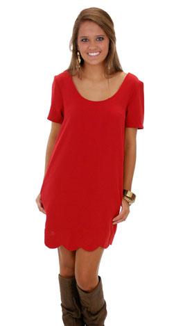 Cupcake Hem Dress, Red