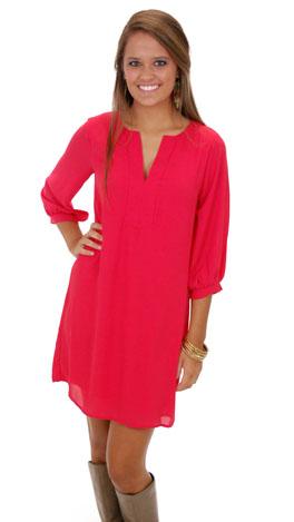 Classic Tunic Dress, Red