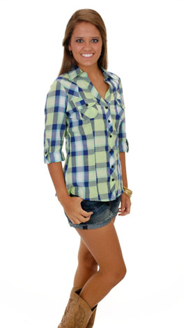 Gone Country Top, Lime