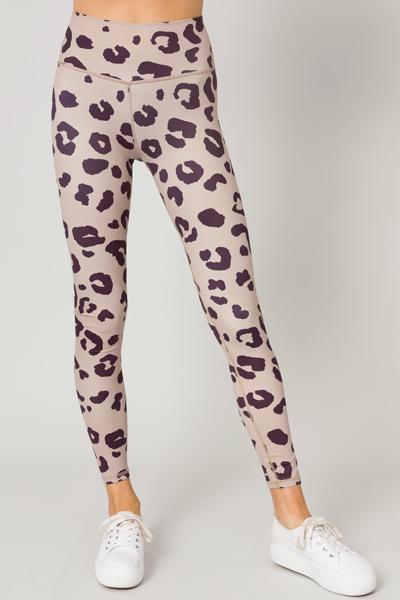 Ziggy Leggings, Tan Leopard