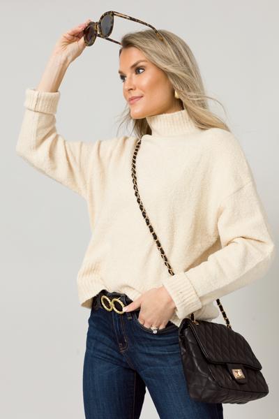 Parker Mock Sweater, Butter