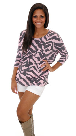 Lux Lounge Top, Pink