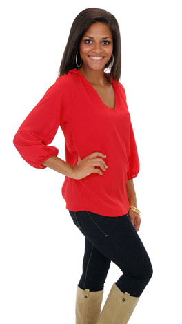 Jack And Diane Top, Red