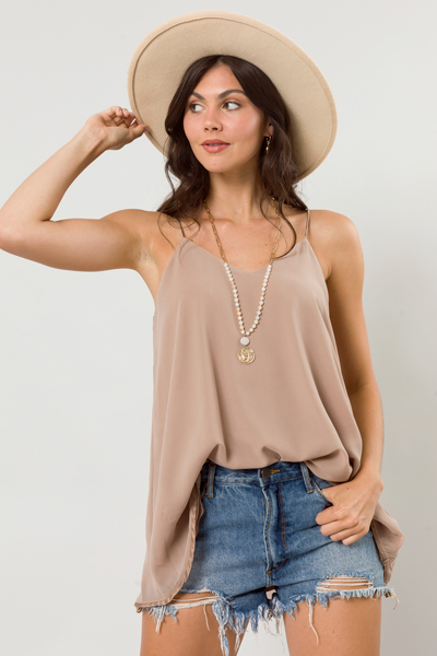 Easy to V Tank, Taupe