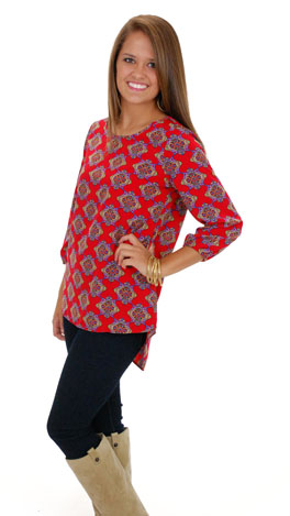 Looking Glass Top, Red