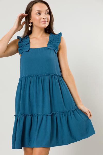 Afternoon Stroll Dress, Blue