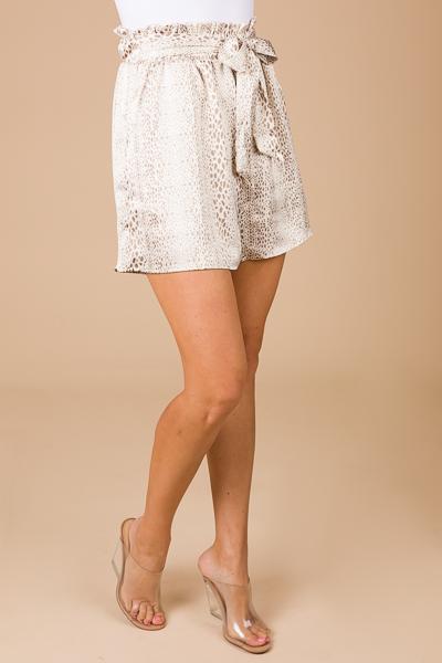 Silky Shorts, Cream Spots