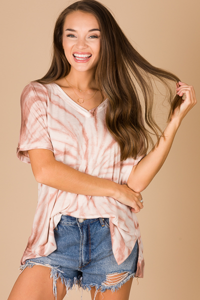 Ride or Dyed Top, Mauve