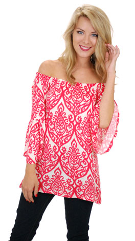 Scroll Top, Coral Red