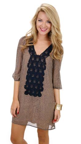 Embrace the Lace Dress, Navy
