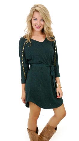 Shine on Sweater Dress, Green