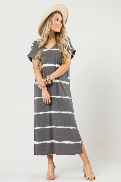 Dyed Stripes V Maxi, Charcoal