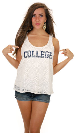 Judith March College Tank