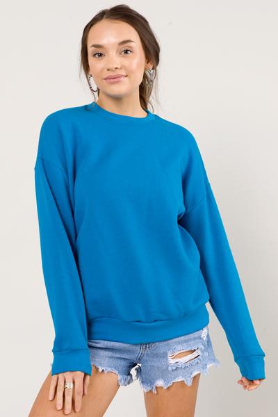 Classic Sweatshirt, Teal