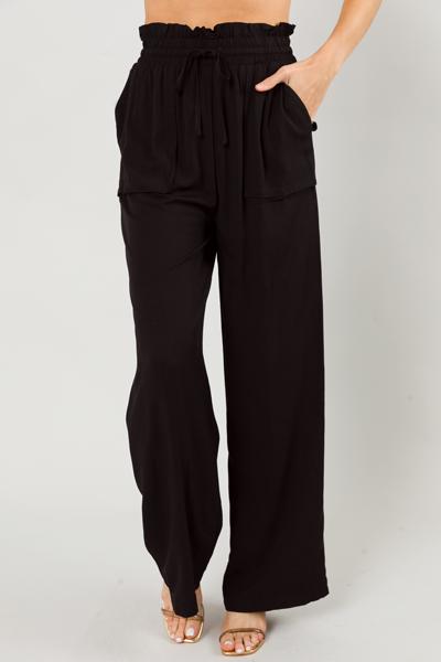 Kimmy Flowy Pants, Black