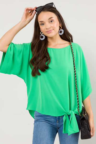 Side to Side Top, Kelly Green