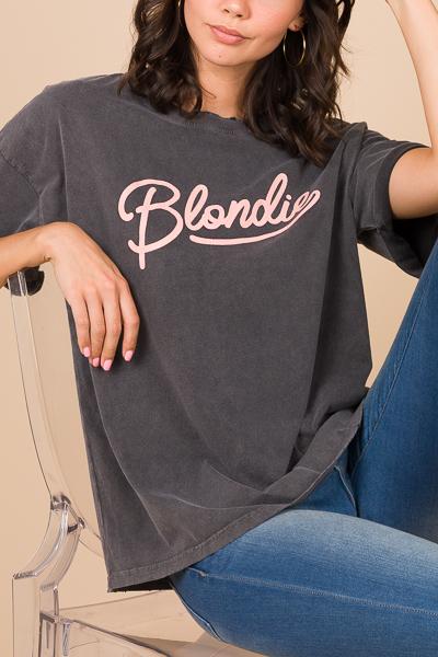 Blondie Tee, Charcoal