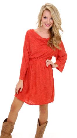 Fancy Free Sweater Dress, Rust