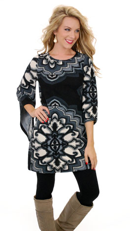 Kaleidoscope Dress, Black Knit