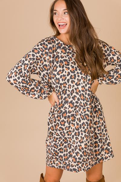Comfy Cute Dress, Cheetah