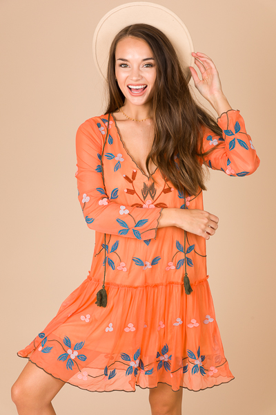 Dreamer Dress, Orange