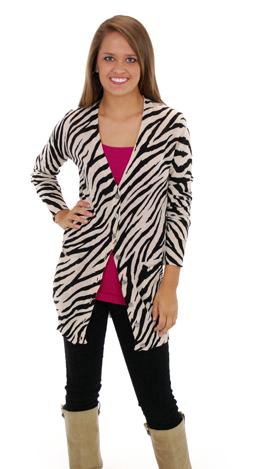 Classic Zebra Cardigan