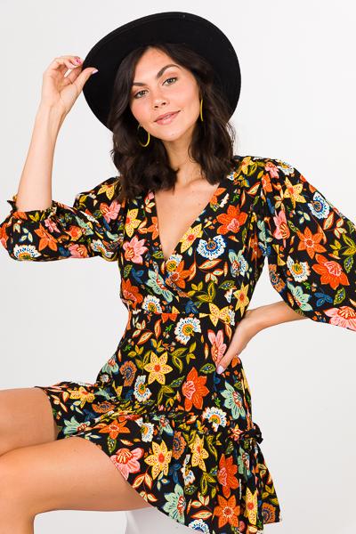 Karlie Dark Floral Dress