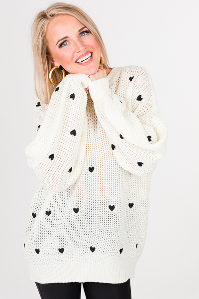 Sweethearts Sweater, Ivory
