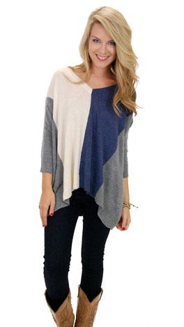 Shady Line Sweater, Blue