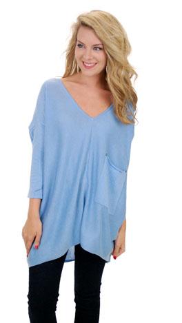 Coal Miner Sweater, Light Blue