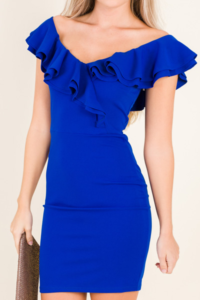 Classic Glam Dress, Royal