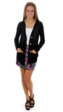Time Marches on Cardigan, Black