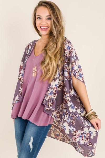 One Kiss Kimono, Lilac