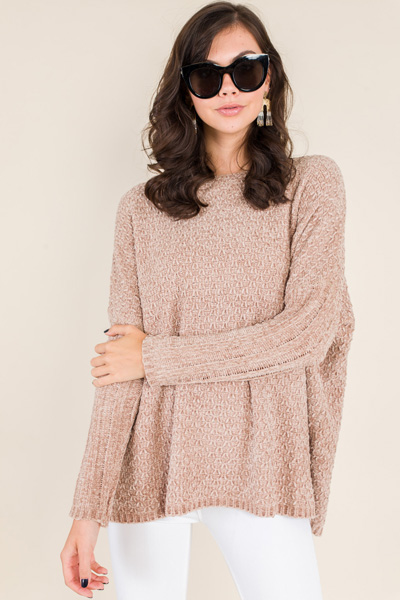 Meryl Chenille Sweater, Taupe