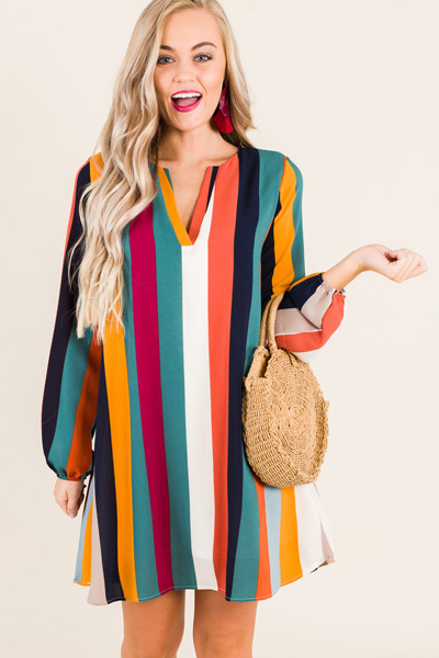 Carmen Striped Dress