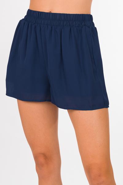 Woven Adri Shorts, Navy