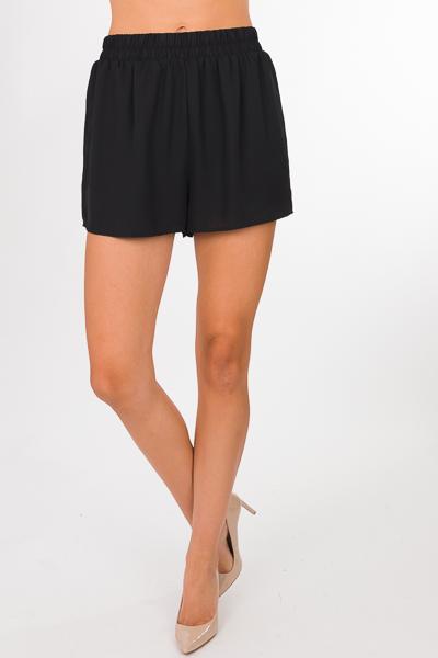 Woven Adri Shorts, Black