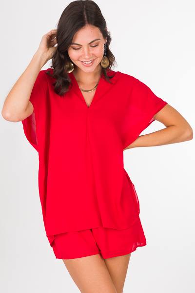 Vindrienne Tunic, Red
