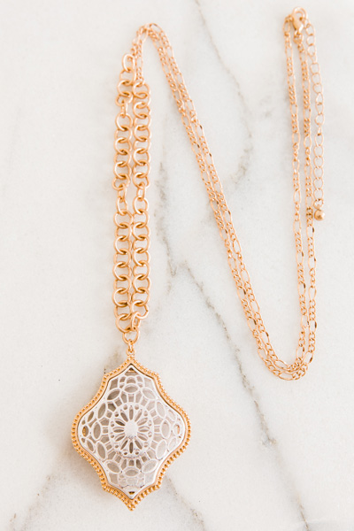 Two Tone Filigree Neck, Gold