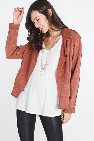 Rusty Sweatshirt Jacket