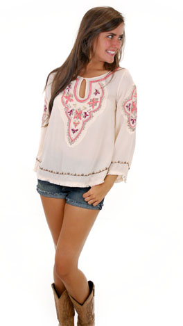 Stitched in Time Top, Taupe
