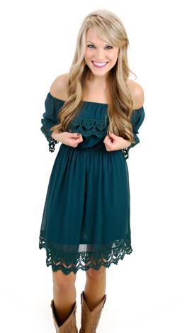Listen to your Heart Dress, Green